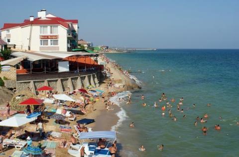 Пляж у Виллы Нимфей Феодосия
